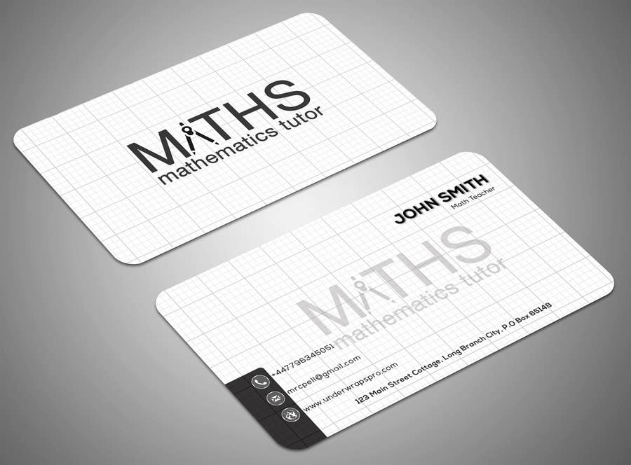 Entry 11 by samirabh for design a mathematics based business card contest entry 11 for design a mathematics based business card colourmoves