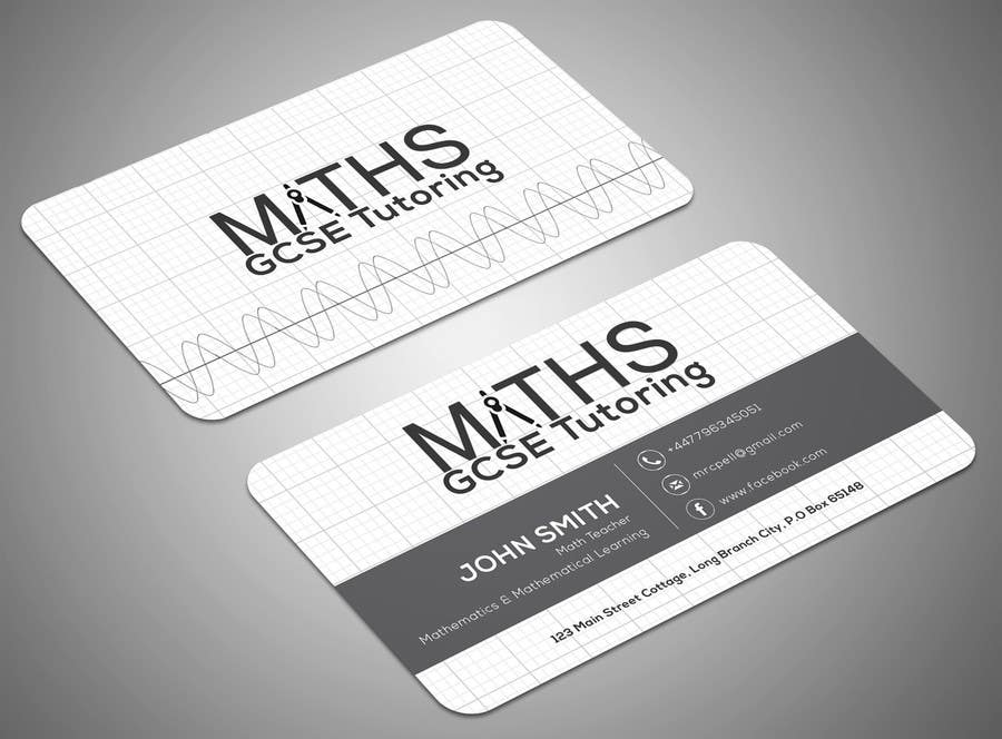Entry #25 by SamiraBH for Design a Mathematics based business card ...