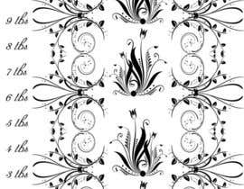 #12 for repeating floral scroll art by SamuelA314