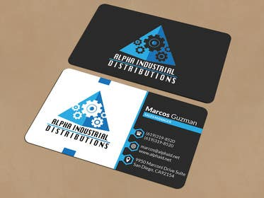 Business card design for industrial supply company freelancer business cards graphic design winner featured contest reheart Choice Image