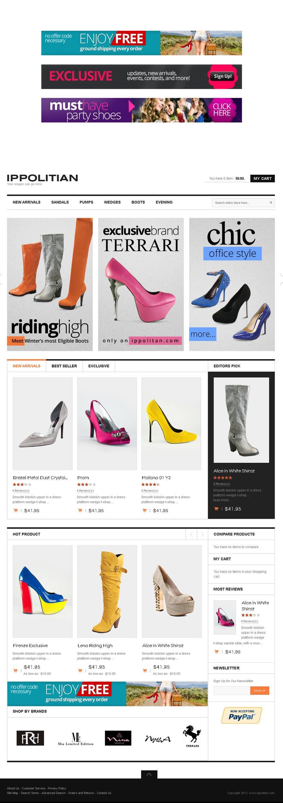 Kilpailutyö #6 kilpailussa Website Design for Re-Design a Theme (Joomla E-Commerce)