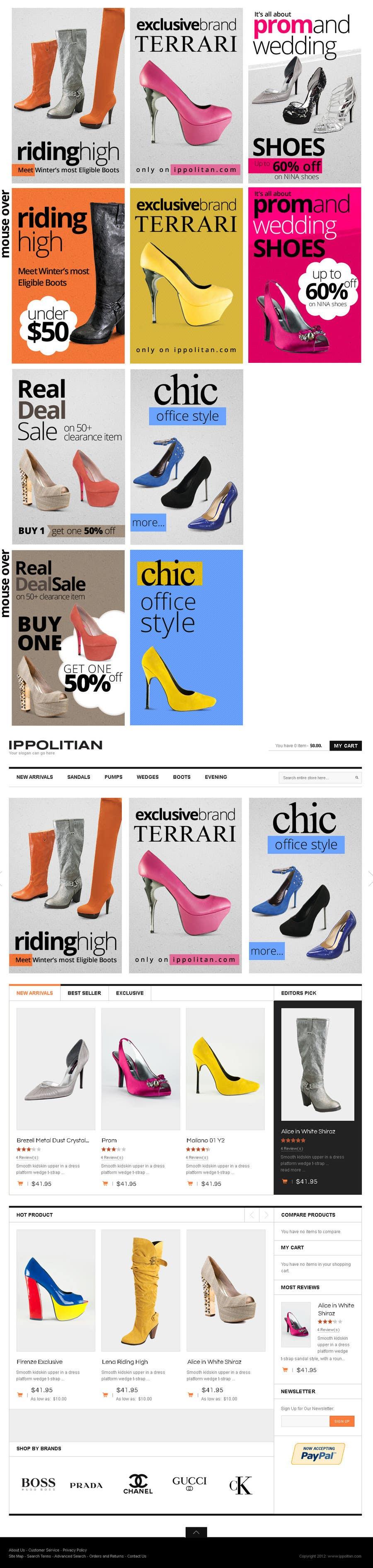 Kilpailutyö #5 kilpailussa Website Design for Re-Design a Theme (Joomla E-Commerce)