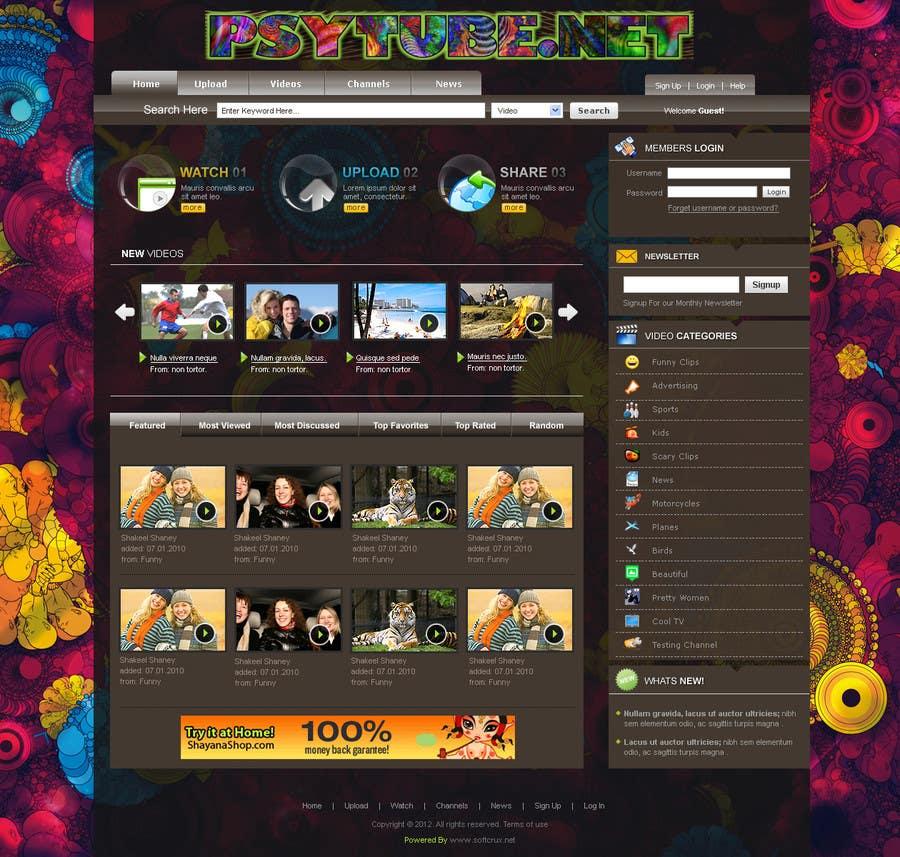 Конкурсная заявка №14 для Website Design for Psytube