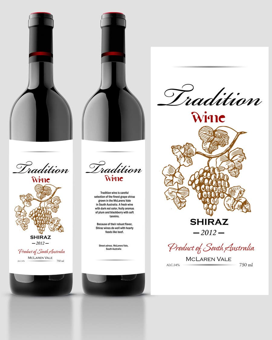 Contest Entry #67 for Print & Packaging Design for a wine brand
