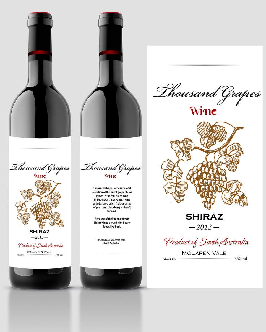 Contest Entry #69 for Print & Packaging Design for a wine brand