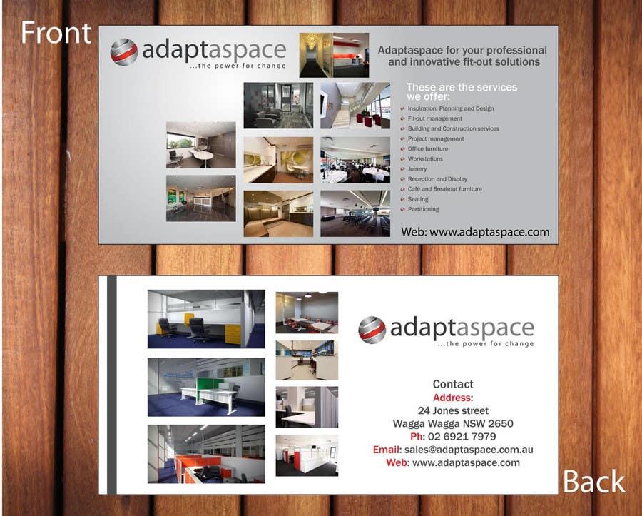 Конкурсная заявка №24 для Graphic Design/ Marketing / Brochure Card for adaptaspace