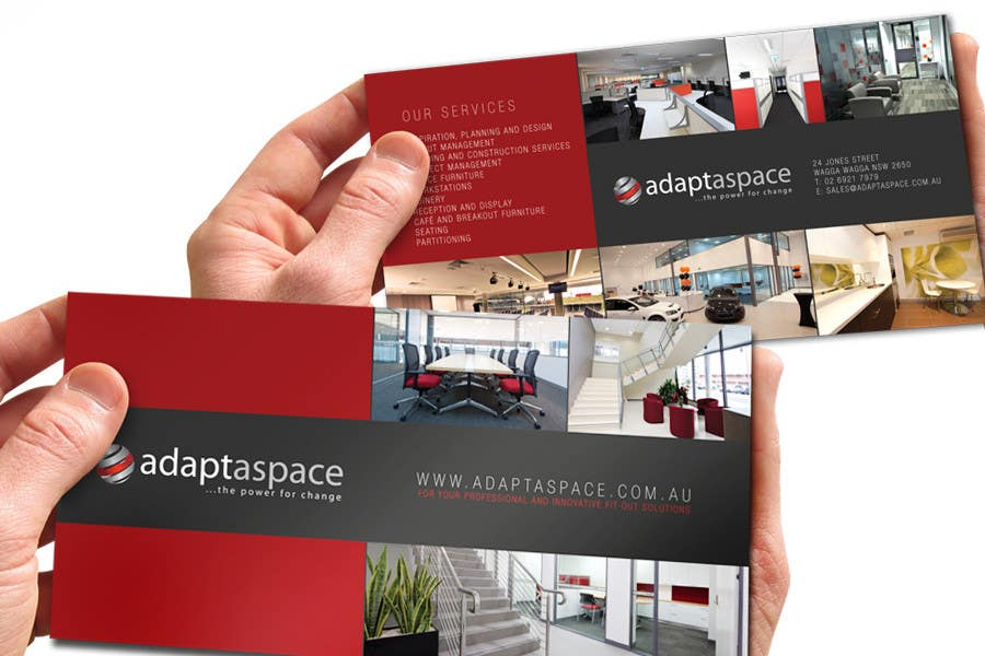Contest Entry #                                        4                                      for                                         Graphic Design/ Marketing / Brochure Card for adaptaspace
