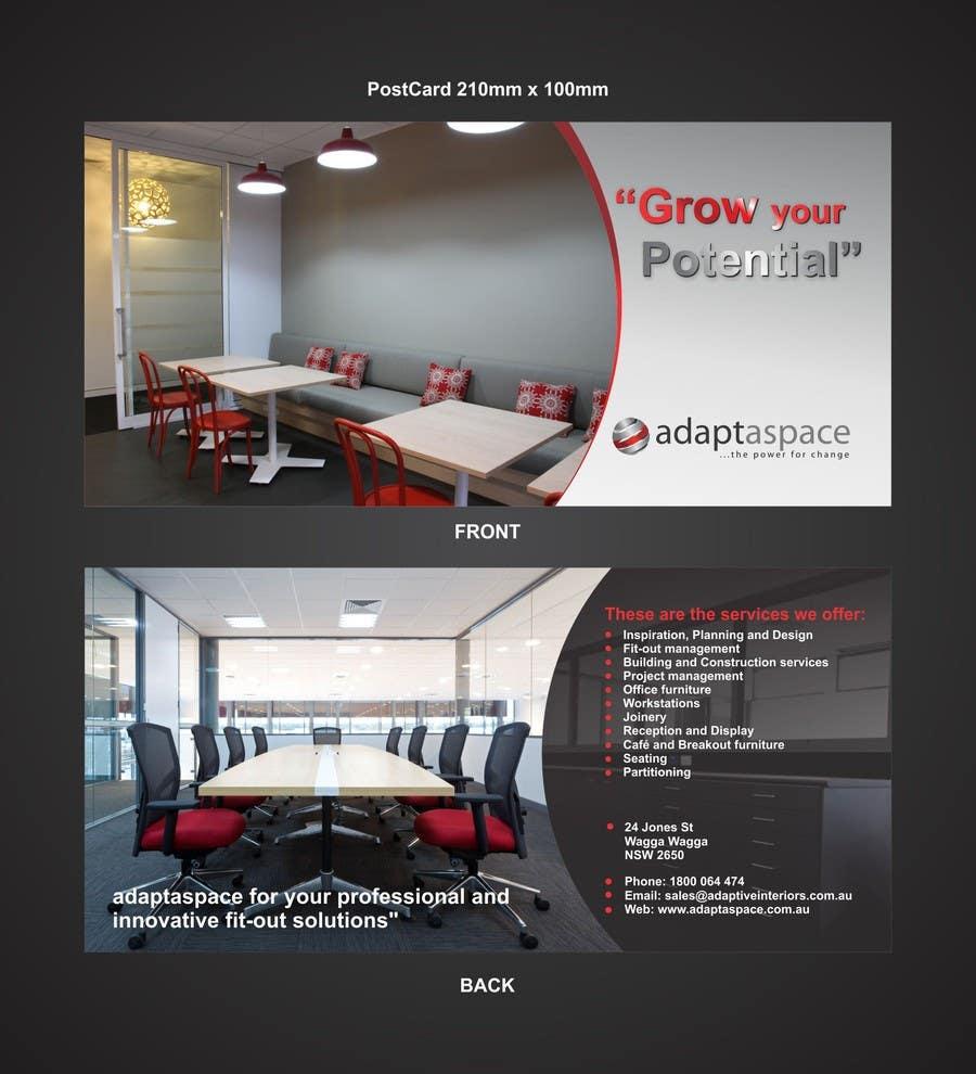 Конкурсная заявка №7 для Graphic Design/ Marketing / Brochure Card for adaptaspace