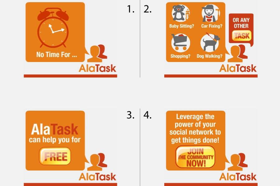 Inscrição nº 21 do Concurso para Banner Ad Design for AlaTask