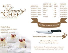 #28 untuk Flyer Design for Country Chef Desserts Pty Ltd oleh DSGinteractive