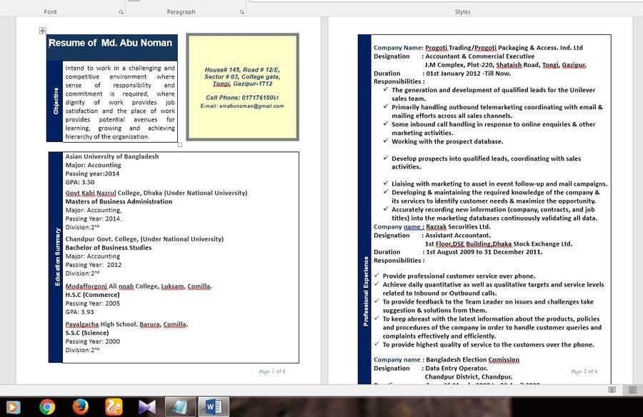 entry 4 by miftu896 for create an interactive pdf resume portfolio