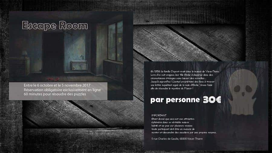Entry #83 by tngting for Design Flyer for Halloween Escape Room