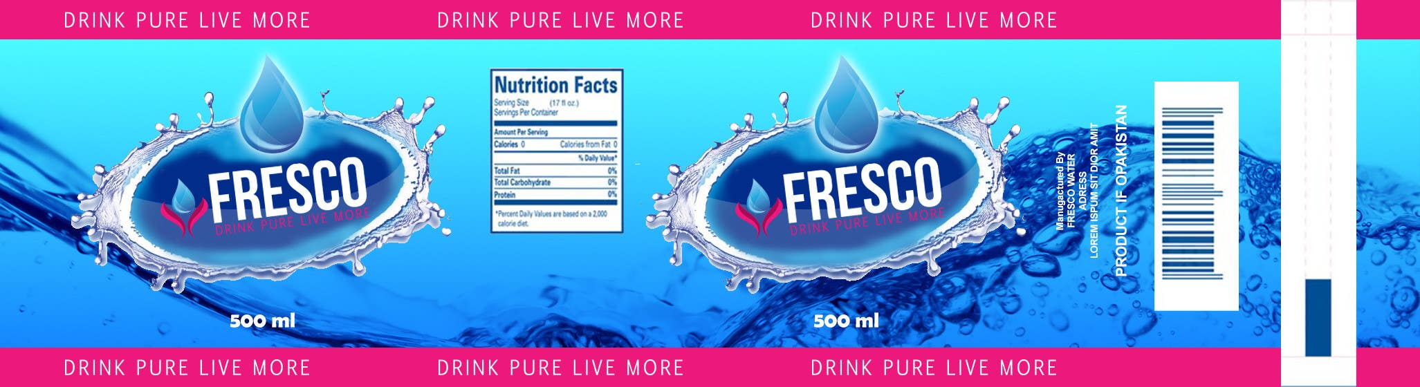 Entry #7 by GofixPro for Label Design for Mineral Water Half ...