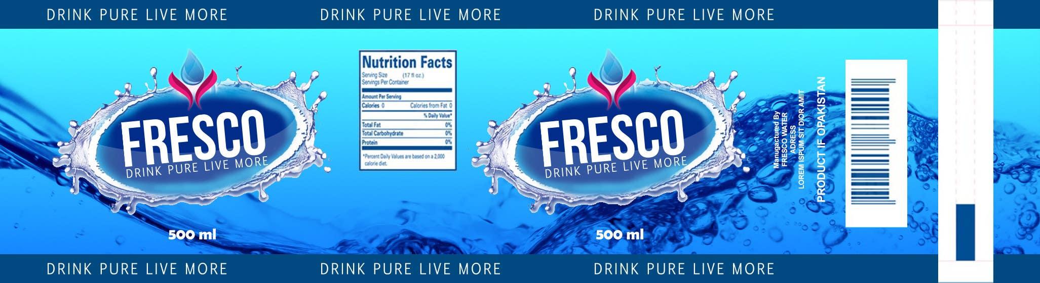 Water Bottle Label Design Ideas