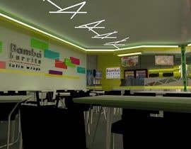 #14 para Diseño de interior de establicimiento de comida rapida latina de visibilizar