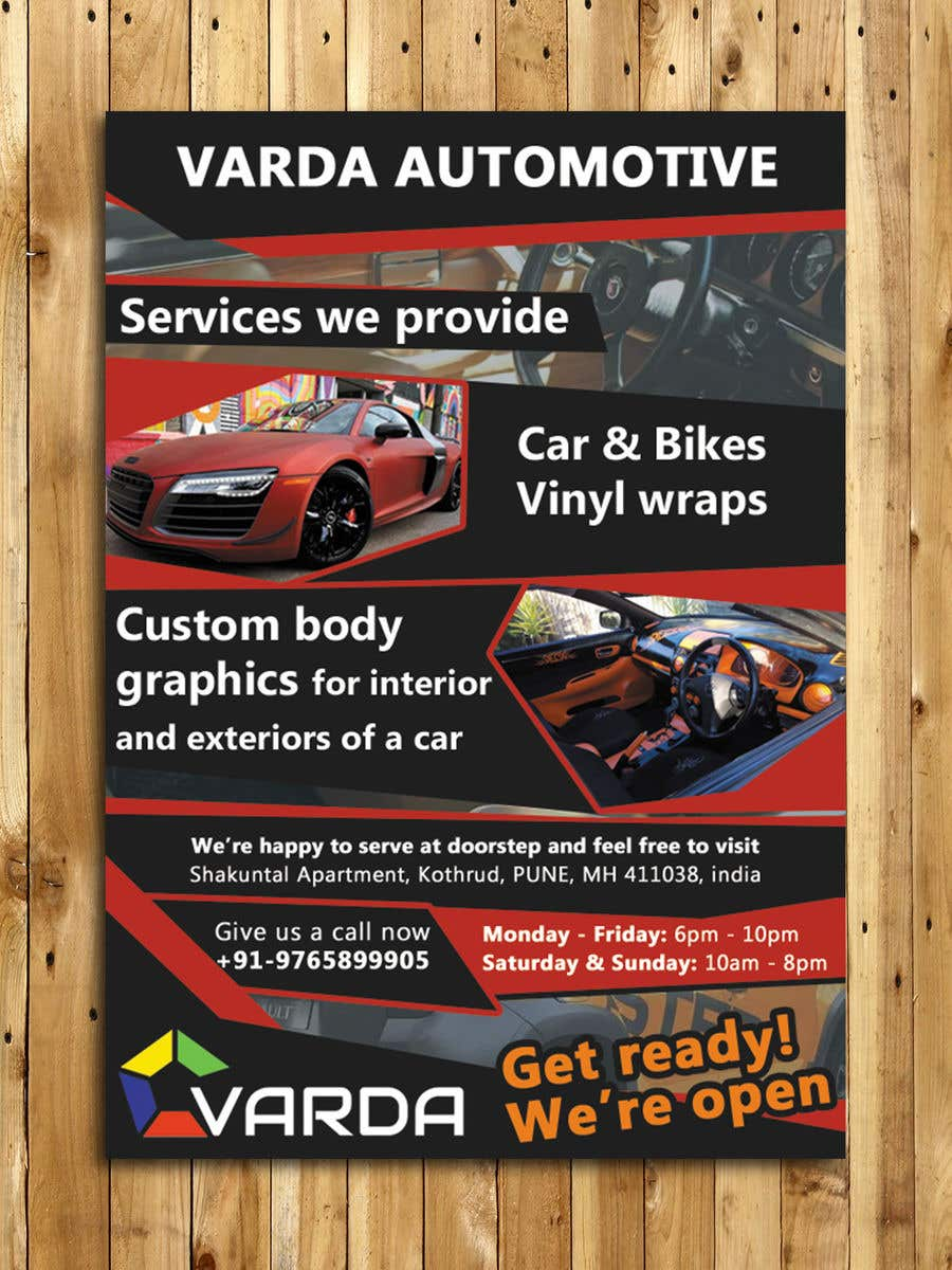 Design A Flyer For Automotive Graphics Vinyl Wrap Company