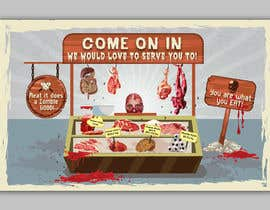 #20 for Large Poster Display Layout for a Cannibal Butcher Shop ( fictitious / not real ) by sevastitsavo