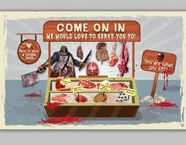 #21 for Large Poster Display Layout for a Cannibal Butcher Shop ( fictitious / not real ) by sevastitsavo