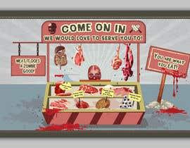 #23 για Large Poster Display Layout for a Cannibal Butcher Shop ( fictitious / not real ) από sevastitsavo
