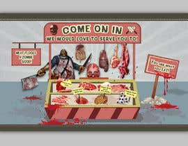 #24 for Large Poster Display Layout for a Cannibal Butcher Shop ( fictitious / not real ) by sevastitsavo