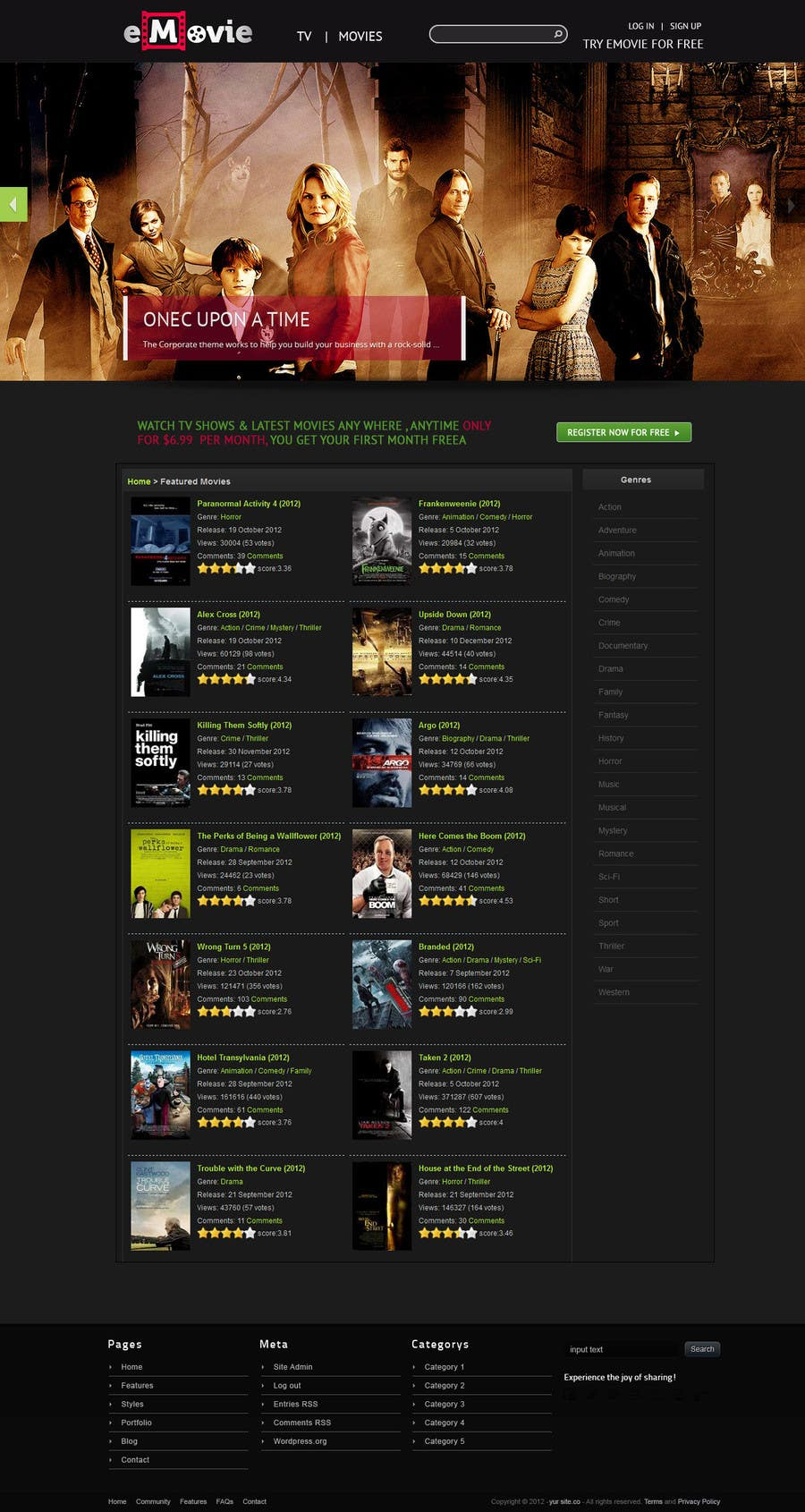 #40 for Website Design for eMovie - Online Movie Streaming by ashikimran