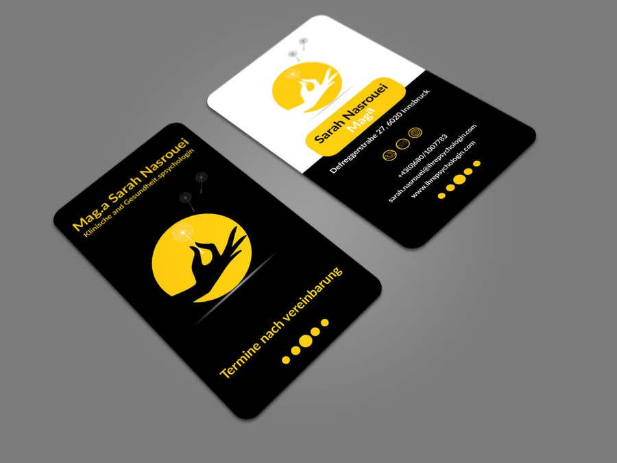 Entry #94 by munnaaziz02 for Business Cards for Psychologist ...