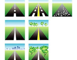 #26 para Design a set of road icons por juraana