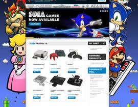 #17 for Website Design for RetroGaming Shop on Magento af impact27