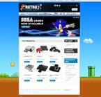Graphic Design Inscrição do Concurso Nº13 para Website Design for RetroGaming Shop on Magento