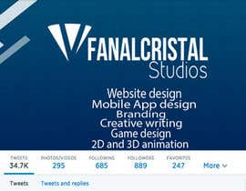 #4 for Design a Twitter Header and Profile Picture for FanalCrystal Studio af patriciaferrao