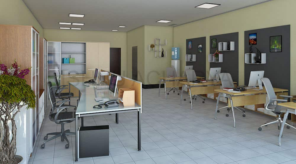 Entry 21 by acharyabishnu for tiny office distribution 3d peque a oficina distribuci n 3d for Distribucion oficinas