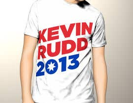 #161 para T-shirt Design for Help Former Australian Prime Minister Kevin Rudd design an election T-shirt! por efegepe