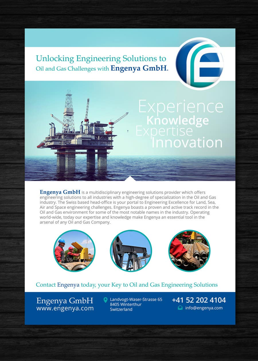 Entry #5 by Mimi214 for Design a Flyer for Oil and Gas Engineering