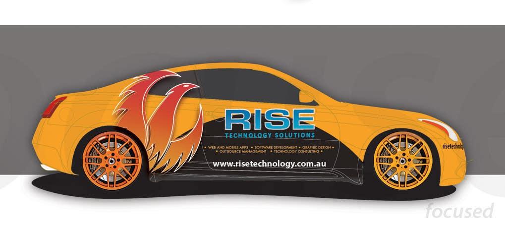 Bài tham dự cuộc thi #                                        25                                      cho                                         Car Wrap Design for RISE Technology Solutions