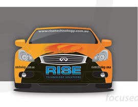 #27 untuk Car Wrap Design for RISE Technology Solutions oleh focused