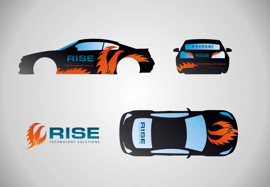 Bài tham dự cuộc thi #                                        5                                      cho                                         Car Wrap Design for RISE Technology Solutions