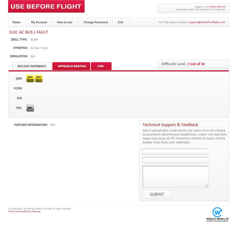 Penyertaan Peraduan #                                        33                                      untuk                                         Website Design for Use Before Flight