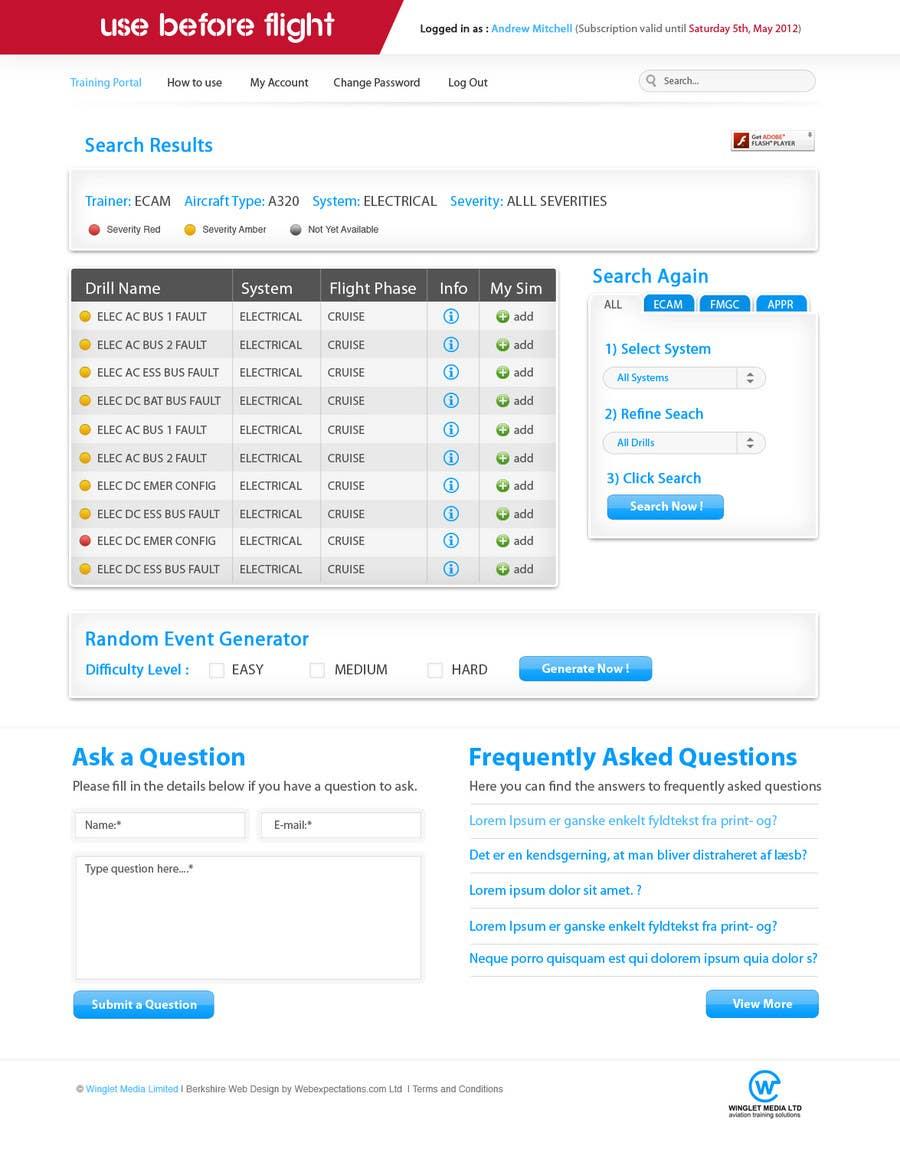 Penyertaan Peraduan #                                        28                                      untuk                                         Website Design for Use Before Flight