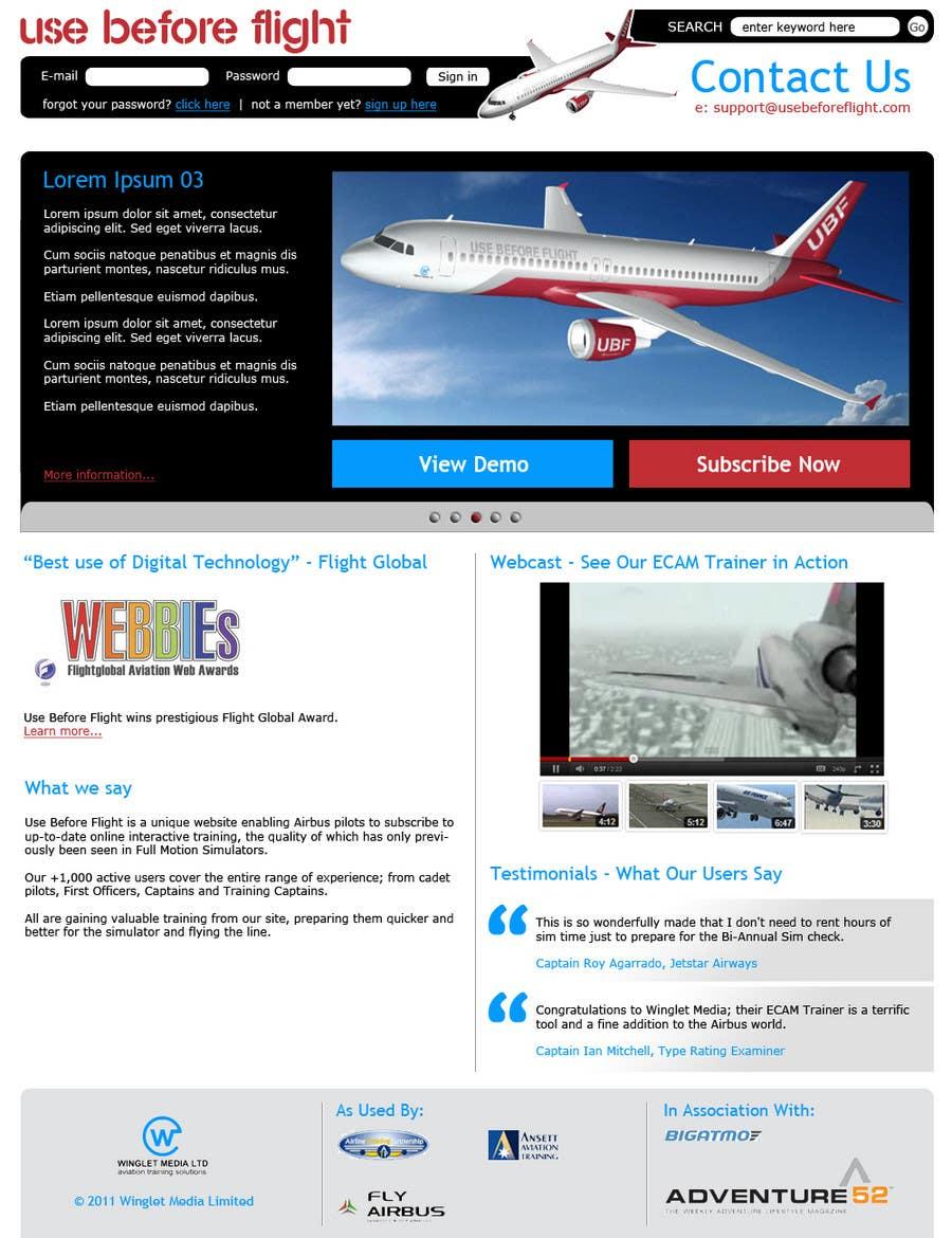 Penyertaan Peraduan #                                        30                                      untuk                                         Website Design for Use Before Flight
