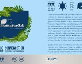 Nro 12 kilpailuun Erstellung bzw. Adaptierung 2x Etikett für Sonnencreme käyttäjältä griffindesing