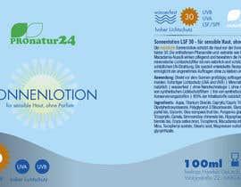 Nro 7 kilpailuun Erstellung bzw. Adaptierung 2x Etikett für Sonnencreme käyttäjältä ElenaMal
