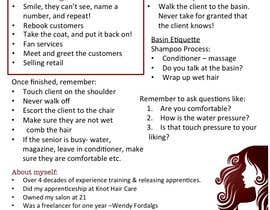 #8 para Design a hairdressing info sheet-PDF de ElaineatService