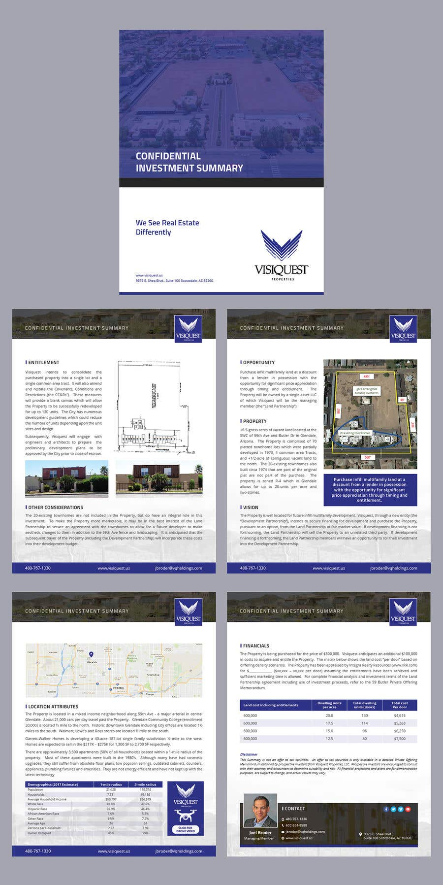 Entry 14 By Adarshdk For Investment Summary Design Template Contest