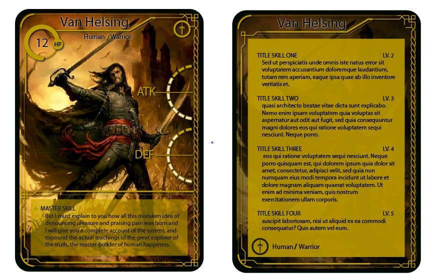 top entries design a template for a fantasy card game freelancer