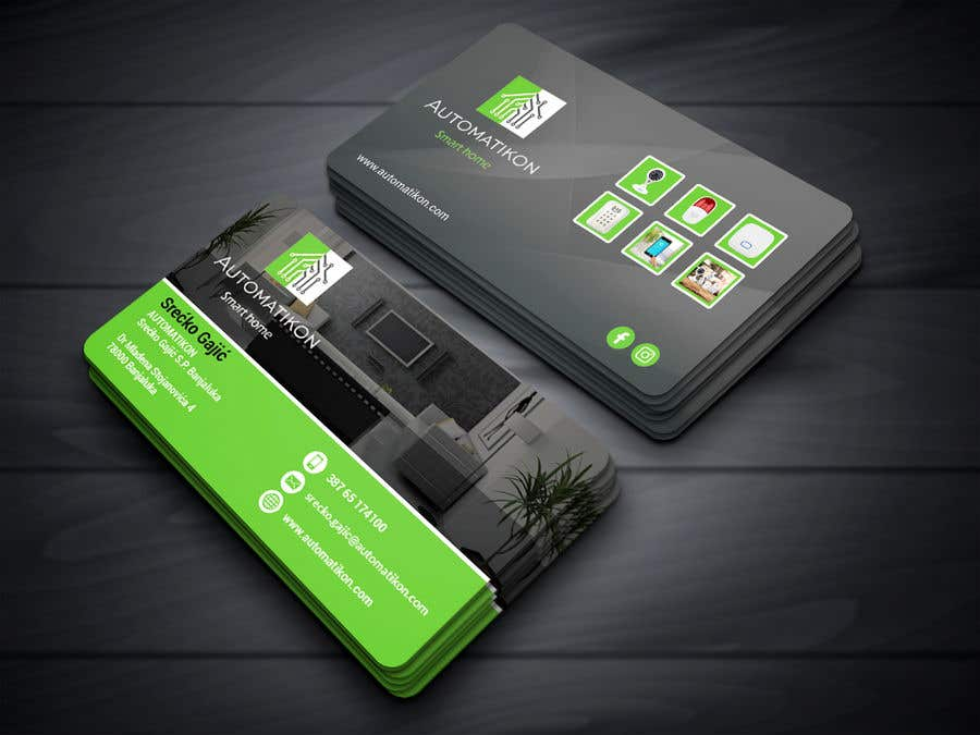 Entry #158 by neloy78 for Design Business Cards for Smart home ...