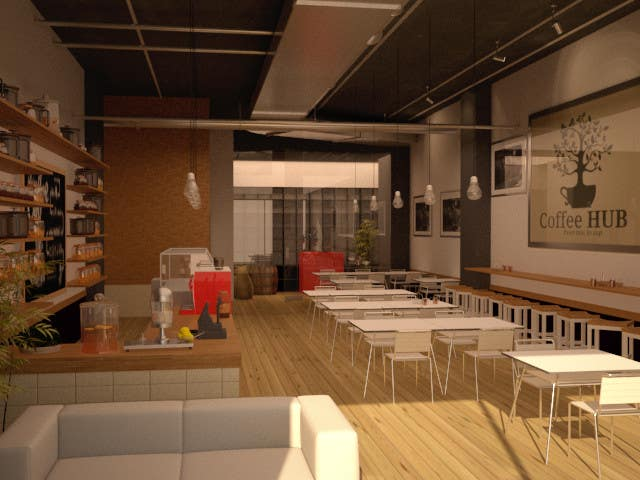 Contest Entry #36 For 3D Render And Interior Design For Coffee Shop