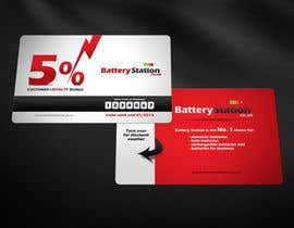 #61 pentru Business Card Design for Battery Station de către Zveki