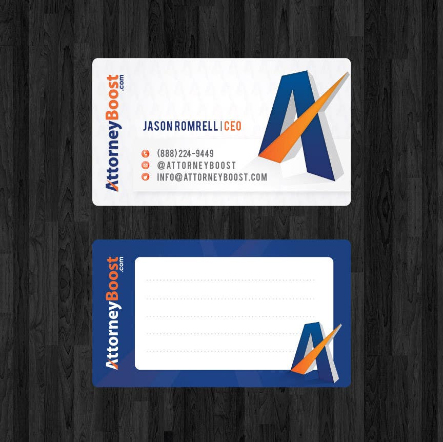 Konkurrenceindlæg #159 for Business Card Design for AttorneyBoost.com