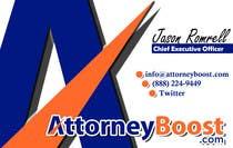 Graphic Design Konkurrenceindlæg #234 for Business Card Design for AttorneyBoost.com