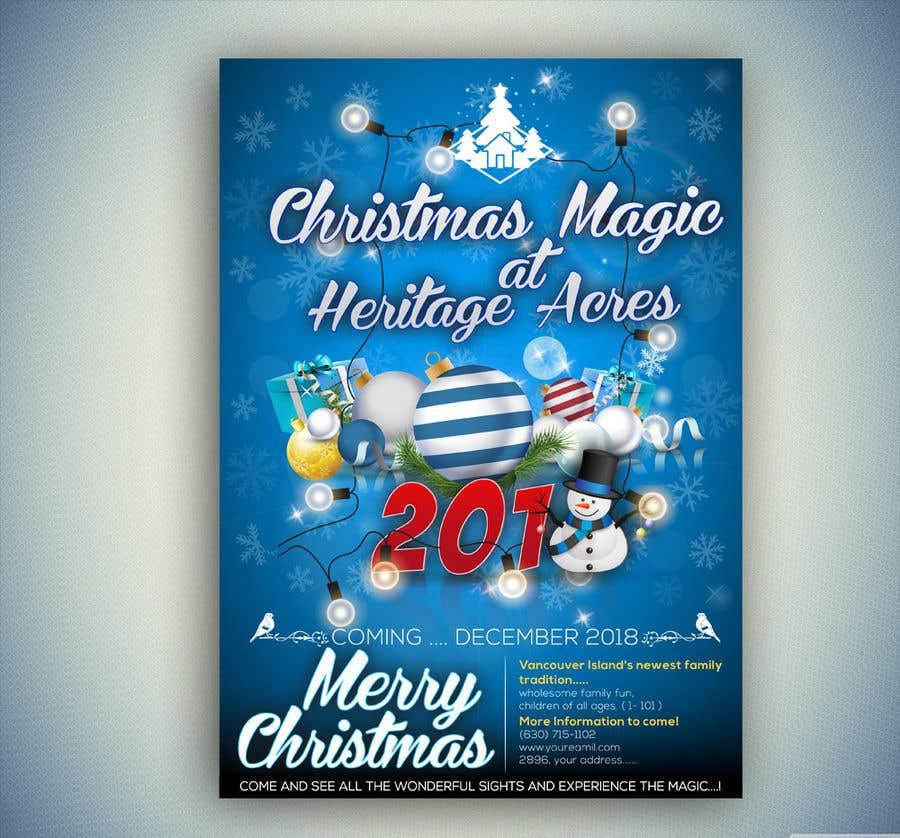 Merry Christmas Poster 2018.Entry 73 By Satishandsurabhi For Event Poster Design